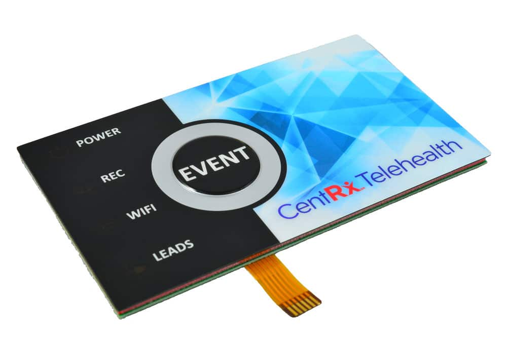 membrane switch with silver bezel and four color graphic overlay