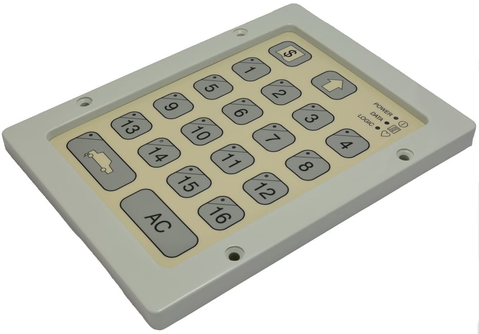 industrial membrane switch in metal housing