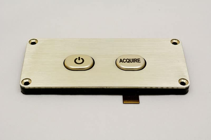 Stainless steel membrane switch with sealed membrane switch housing